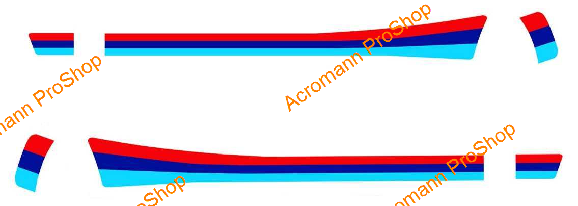 BMW M Color Side Stripe Decal (Style#1C) x 1 pair (LHS & RHS)